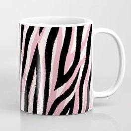 Fur mix texture - pastel zebra 01 Coffee Mug
