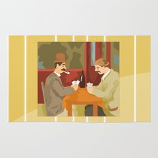 Card players by Cezanne Rug