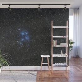 Peiades star cluster and a Orionid Meteor Wall Mural