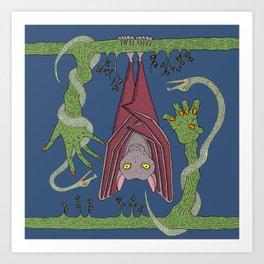 Good Night Bat Art Print