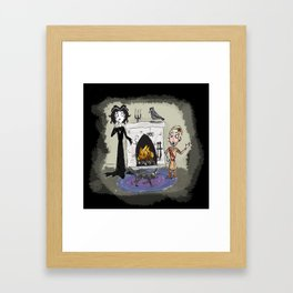 Haunted Family Photo Framed Art Print