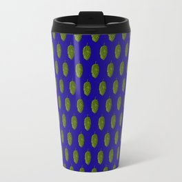 Hops Blue Pattern Travel Mug