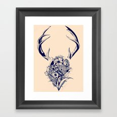 Antler Bouquet Peach Framed Art Print