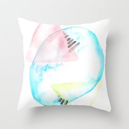170404 Steady Pacing 1  |Modern Watercolor Art | Abstract Watercolors Throw Pillow