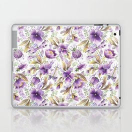 violet garden floral pattern Laptop & iPad Skin