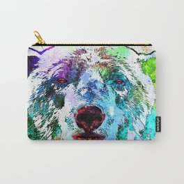 Polar Bear Watercolor Grunge Carry-All Pouch