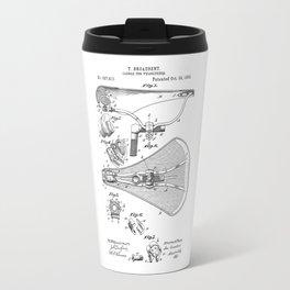patent art Broadbent Saddle for Velocipedes 1893 Travel Mug