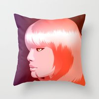 candy Throw Pillows featuring candy by Denise Medina