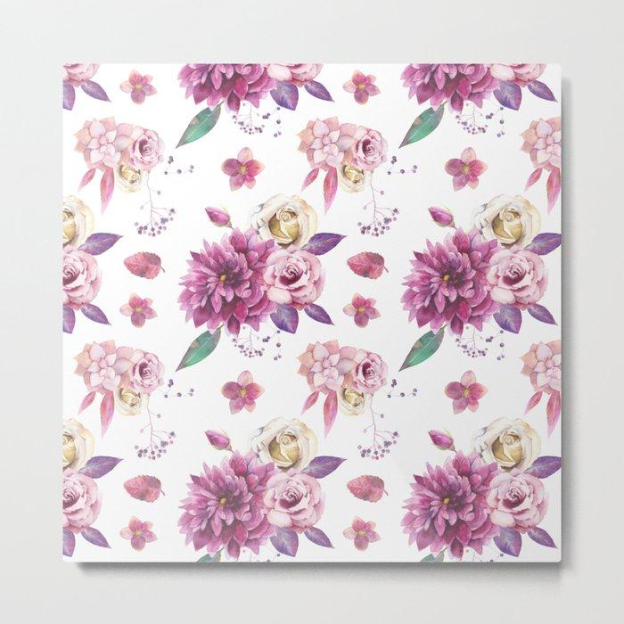 Succulent Rose Metal Print