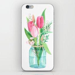 tulips in the jar iPhone Skin