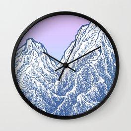 """遠望 series -""""Valley"""" - Linocut Wall Clock"""