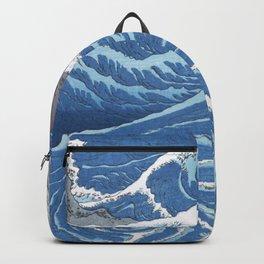 Utagawa Hiroshige - Whirlpools At Awa Province - Vintage Japanese Woodblock Print, 1855 Backpack