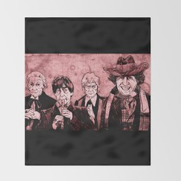 Doctor Who - One, Two, Three and Four Throw Blanket
