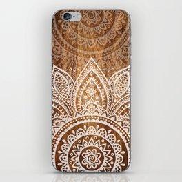 Wood + Vector Print iPhone Skin