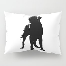Dog Black Silhouette Pet Animal Cool Style Pillow Sham