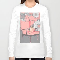 Dog in a chair #3 Italian Greyhound Long Sleeve T-shirt