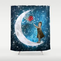prince Shower Curtains featuring The Little Prince by Diogo Verissimo