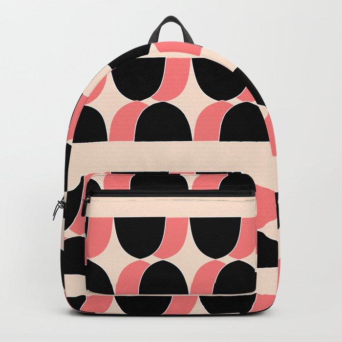 retro print Backpack