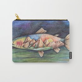 Rainbow Trout and Mountains Carry-All Pouch