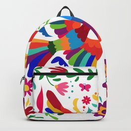 embroidery mexican floral  Backpack