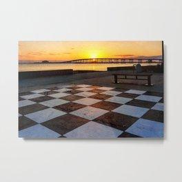 Checkerboard Sunset Metal Print