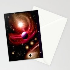 Stardust and solar wind. Stationery Cards