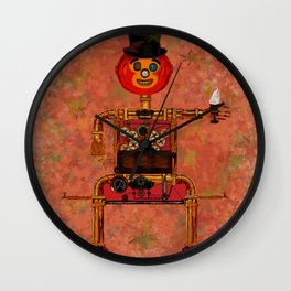 Steampunk Pumpkin Wall Clock