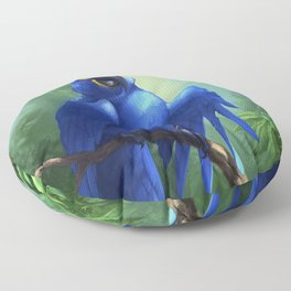 Moseley the Hyacinth Macaw Floor Pillow