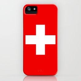 Flag of Switzerland - Authentic (High Quality Image) iPhone Case