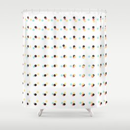 Abstract Painting Polka Dots Pattern Shower Curtain