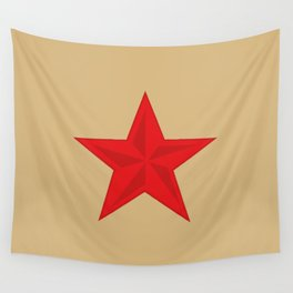 Red Star Communist Wall Tapestry