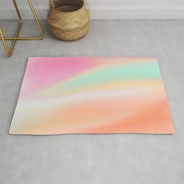 Digital painted texture illustration, pastel soft colors Rug