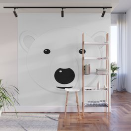 Cartoon Polar Bear Adult Wall Mural