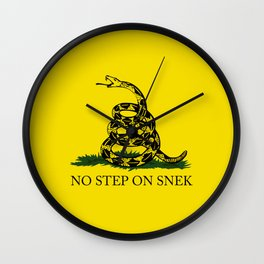 No Step On Snek Wall Clock