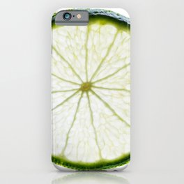 slice of lime iPhone Case