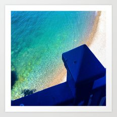 Into the Mediterranean Sea Art Print