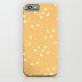 Anna Little Flowers almond on apricot pattern iPhone Case
