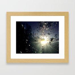 Bubbles in the sun Framed Art Print