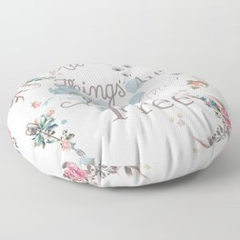 Boho stylish design. All good things are free and wild Floor Pillow