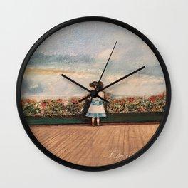 Francesca At Niagara Falls Wall Clock