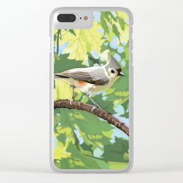 Summer: Tufted Titmouse Clear iPhone Case
