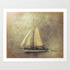 Sailing Boat Art Print