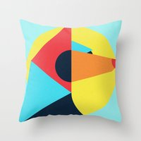 pagan Throw Pillows featuring PAGAN ANIMALS - WOLF by Atelier FP7