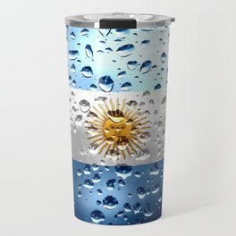 Flag of Argentina - Raindrops Travel Mug