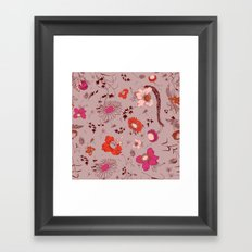 large floral print - pinks Framed Art Print