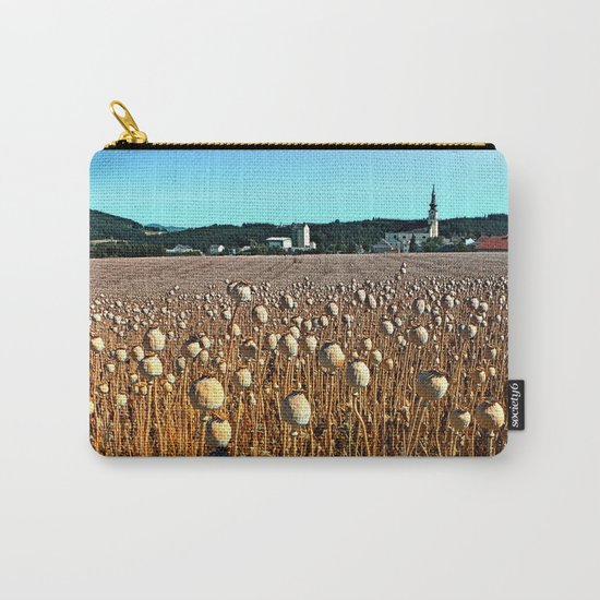 Poppy fields with a sunburn Carry-All Pouch