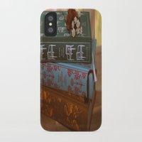 jane austen iPhone & iPod Cases featuring Jane Austen by Whimsicalland