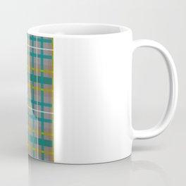 Teal and Gold Plaid 2 Coffee Mug