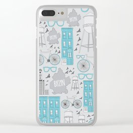 Oh-so Brooklyn Clear iPhone Case
