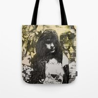 jenna kutcher Tote Bags featuring JENNA by JESSE OLWEN
